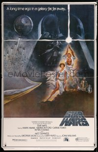 2d052 STAR WARS standee 1977 George Lucas sci-fi epic, classic art by Tom Jung, ultra-rare!