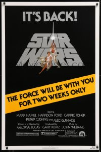 2d027 STAR WARS NSS style 1sh R1981 George Lucas classic epic, art by Tom Jung, two weeks only!