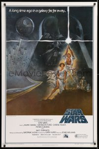 2d010 STAR WARS style A first printing int'l 1sh 1977 George Lucas classic epic, art by Tom Jung!