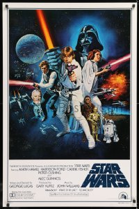 2d016 STAR WARS style C int'l 1sh 1977 George Lucas sci-fi epic, art by Tom William Chantrell!
