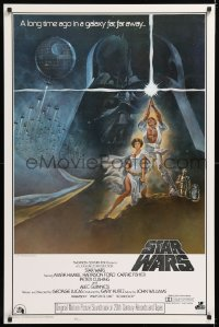 2d023 STAR WARS style A soundtrack style A 1977 George Lucas classic epic, art by Tom Jung, soundtrack!