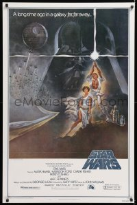 2d013 STAR WARS style A fourth printing 1sh 1977 George Lucas classic epic, art by Tom Jung!