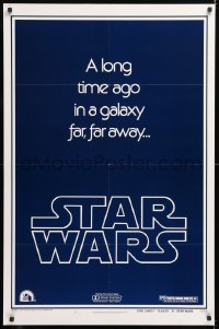 2d014 STAR WARS style B teaser 1sh 1977 George Lucas, a long time ago in a galaxy far, far away...