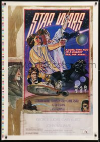 2d017 STAR WARS style D printer's test 1sh 1978 great circus poster style art by Struzan & White!