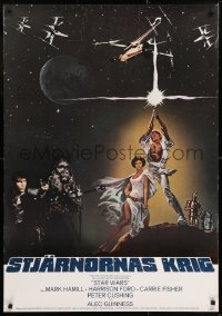 2d078 STAR WARS Swedish 1977 George Lucas classic sci-fi epic, Tom Jung art with different images!