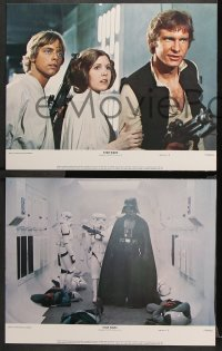 2d055 STAR WARS 8 color 11x14 stills 1977 George Lucas classic epic, Luke, Leia, complete set!