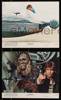 2d056 STAR WARS 4 8x10 mini LCs 1977 George Lucas classic epic, Luke, Leia, revised NSS!