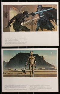 2d060 STAR WARS art portfolio 1977 contains rare McQuarrie art that was never used!