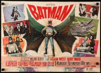 2f016 BATMAN Belgian 1966 Adam West & Burt Ward w/ villains Meriwether, Romero, ultra-rare!