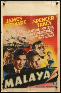 2f017 MALAYA Belgian 1950 adventurer James Stewart, Tracy, Cortesa, completely different!