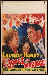 2f019 TWICE TWO Belgian R1950s wacky art of Stan Laurel & Oliver Hardy, Hal Roach
