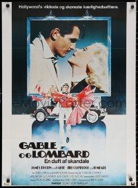 2f006 GABLE & LOMBARD Danish 1977 James Brolin as Clark, Jill Clayburgh as Carole!
