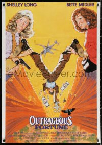 2f021 OUTRAGEOUS FORTUNE Dutch 1987 Bette Midler, Shelley Long, Peter Coyote, Arthur Hiller!