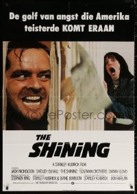 2f023 SHINING Dutch 1980 Stephen King & Stanley Kubrick horror masterpiece, crazy Jack Nicholson!
