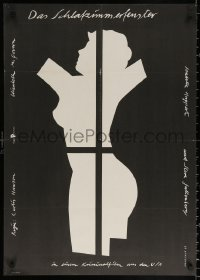 2f025 BEDROOM WINDOW East German 23x32 1989 Steve Guttenberg, Huppert, sexy Handschick art!