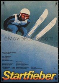 2f027 STARTFIEBER East German 23x32 1986 sports skiing melodrama starring Klaus Manchen!