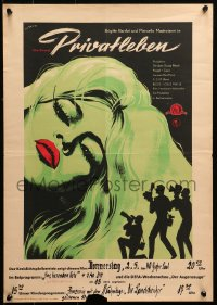 2f029 VERY PRIVATE AFFAIR East German 16x23 1962 Malle's Vie Privee, Brigitte Bardot, different!
