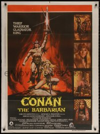 2f010 CONAN THE BARBARIAN Indian 1982 Arnold Schwarzenegger & sexy Sandahl Bergman by Casaro!