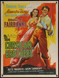 2f011 CORSICAN BROTHERS Indian R1960s different art of Douglas Fairbanks Jr. & Warrick by Pinto!