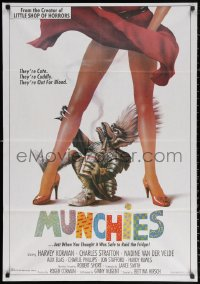 2f031 MUNCHIES Lebanese 1987 Roger Corman, Harvey Korman, great art of monster & sexy legs!