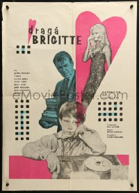 2f001 DEAR BRIGITTE Romanian 1965 Jimmy Stewart, Fabian, Brigitte Bardot, different artwork!