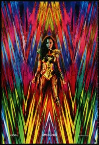 2g985 WONDER WOMAN 1984 teaser DS 1sh 2020 great 80s inspired image of Gal Gadot as Amazon princess!
