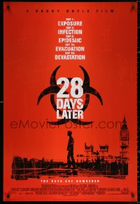 2r014 28 DAYS LATER DS int'l 1sh 2003 Danny Boyle, Cillian Murphy vs. zombies in London!