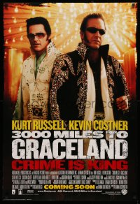 2r019 3000 MILES TO GRACELAND int'l advance DS 1sh 2001 Russell & Costner as Elvis impersonators!