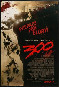 2r018 300 advance DS 1sh 2007 Zack Snyder directed, Gerard Butler, prepare for glory!