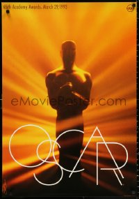 2r004 65th ANNUAL ACADEMY AWARDS 25x36 1sh 1993 Oscar statuette, Saul Bass design!
