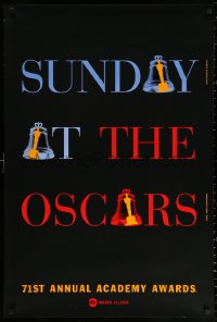 2r007 71ST ANNUAL ACADEMY AWARDS 1sh 1999 Sunday at the Oscars, cool ringing bell design!