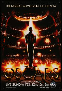 2r009 81ST ANNUAL ACADEMY AWARDS 1sh 2009 art of the Oscar statuette in front of huge audience