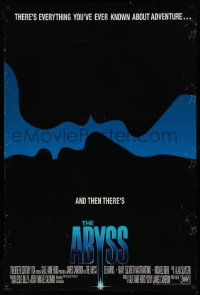 2r024 ABYSS int'l 1sh 1989 directed by James Cameron, Ed Harris, different silhouette art!