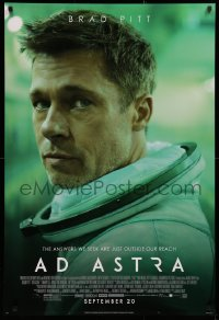 2r027 AD ASTRA style C advance DS 1sh 2019 Brad Pitt, the answers we seek are just outside our reach!