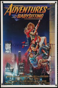 2r029 ADVENTURES IN BABYSITTING 1sh 1987 artwork of young Elisabeth Shue by Drew Struzan!