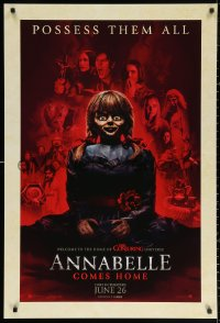 2r055 ANNABELLE COMES HOME teaser DS 1sh 2019 welcome to The Conjuring universe, possess them all!