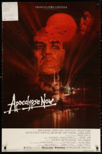 2r060 APOCALYPSE NOW 1sh 1979 Francis Ford Coppola, classic Bob Peak art of Brando and Sheen!