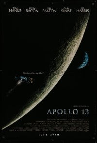 2r061 APOLLO 13 advance 1sh 1995 Ron Howard directed, Tom Hanks, image of module in moon's orbit!
