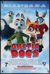 2r067 ARCTIC DOGS advance DS 1sh 2019 Jeremy Renner, Heidi Klum, time to run with the big dogs!