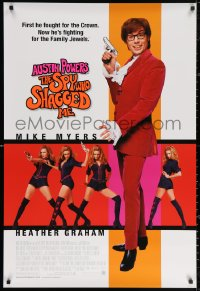 2r073 AUSTIN POWERS: THE SPY WHO SHAGGED ME 1sh 1999 Mike Myers, super sexy Heather Graham!