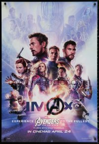 2r079 AVENGERS: ENDGAME IMAX int'l teaser DS 1sh 2019 Marvel, montage with Hemsworth & cast!