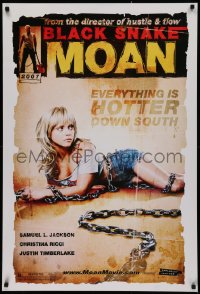 2r132 BLACK SNAKE MOAN teaser 1sh 2007 super sexy Christina Ricci in chains!