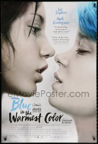 2r143 BLUE IS THE WARMEST COLOR 1sh 2013 lesbians Lea Seydoux & Adele Exarchopoulos about to kiss!