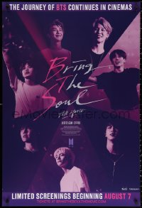 2r156 BRING THE SOUL advance 1sh 2019 South Korean BTS pop music, their journey continues in theaters!