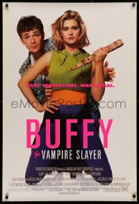 2r160 BUFFY THE VAMPIRE SLAYER 1sh 1992 great image of Kristy Swanson & Luke Perry!