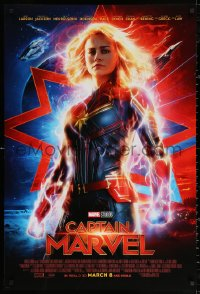 2r169 CAPTAIN MARVEL advance DS 1sh 2019 incredible image of Brie Larson in the title role!