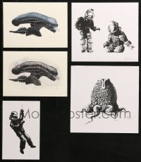 2s024 LOT OF 5 SIGNED ALIEN ART PRINTS 2010s all autographed by artist Andrew Swainson!