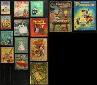 2s008 LOT OF 14 HARDCOVER WALT DISNEY BOOKS 1980s Pinocchio, Cinderella, Bambi & more!