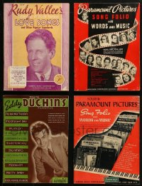 2s022 LOT OF 4 SONG FOLIO MAGAZINES 1930s Rudy Vallee, Eddy Duchin, Paramount words & music!