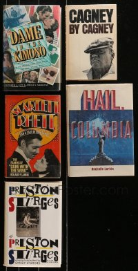 2s012 LOT OF 5 HARDCOVER MOVIE BOOKS 1970s-1990s James Cagney, Gone with the Wind & more!